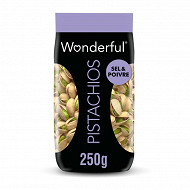 Wonderful Pistachios sel et poivre 250g