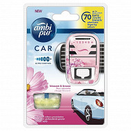 Ambipur car 1 diffuseur + 1 recharge fleur naissante
