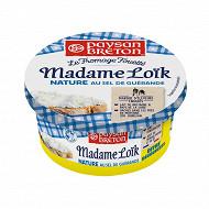 Paysan breton le fromage fouette Mme Loïk nature au sel de guérande 180g offre decouverte