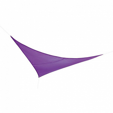 Voile d'ombrage triangulaire 3X3X3m en polyester 160g/m  coloris aubergine