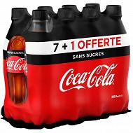 Coca-Cola zéro pet 8x50cl 7+1 bouteille offerte