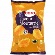 Cora chips saveur moutarde 135g