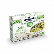 La compagnie artique gratin légumes verts & pointe de ciboulette bio 380g