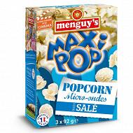 Menguy's pop corn micro-ondes salé 3x92g
