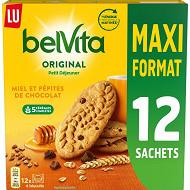 Lu Belvita petit dejeuner miel et pepites de chocolat 650g