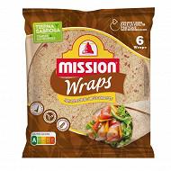 Mission wraps au blé complet 370g