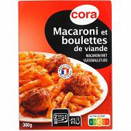 Cora macaroni et boulettes de viande 300g