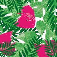 Cora serviette x20 exotic pink 33x33cm 3 plis