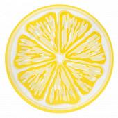 Mesa bella assiete x8 citron diamètre 25cm