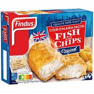 Findus filets de colin façon fish and chips 4x100g