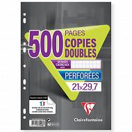 Clairefontaine copies doubles perforées 21x29.7 500 pages sey 90g