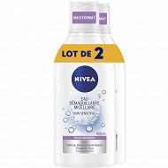 Nivea visage démaquillant micellaire Peau sèche et sensible 2x400 ml