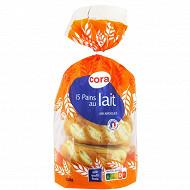 Cora 15 pains au lait 525g