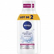 Nivea visage démaquillant micellaire 400 ml Peau Sensible lotx2