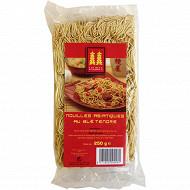 Lesdeux pagodes nouilles asiatiques pâtes jaunes 250g