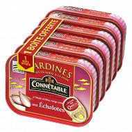Connétable 1/5 sardines à l'huile d'olive et aux échalotes de Bretagne 135g lot 5+1