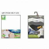 Tee shirt col V lot de 2+1 offert Athena 1951 BLANC/BLANC/BLANC T7
