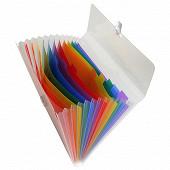 Exacompta trieur familial  13 compartiments polypro translucide colours