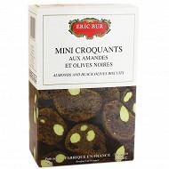 Eric Bur mini croquants amandes et olives noires 75g