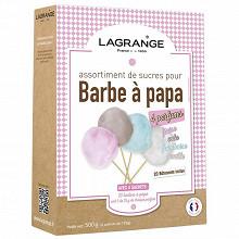 Lagrange assortiment de 4 parfums de sucres pour barbes a papa 380000