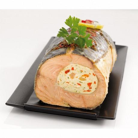 Filet de saumon farci mousseline crevette