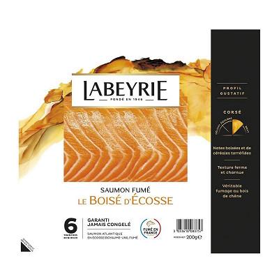 Labeyrie Labeyrie saumon Atlantique fumé d'Ecosse 6 tranches 200g