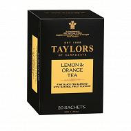 Taylors of harrogate thé au citron et a l'orange 20 sachets 50g