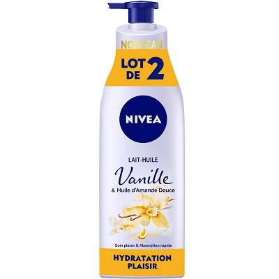 Nivea Nivea body lait huile Vanille lotx2 200 ml