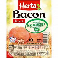 Herta bacon fumé sans antiobiotiques 10 tranches 100g