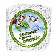 Tomme farce basilic 160g 20.5%mg/pt