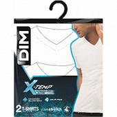 Lot de 2 tee shirts col V ligne X-temp Dim BLANC/BLANC M