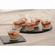 Verrines tartare de tomates et thon 45gx6
