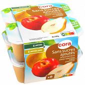 Cora dessert pommes / pomme poire 8x100g