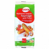 Cora madeleines longues fourrées fraise 240g