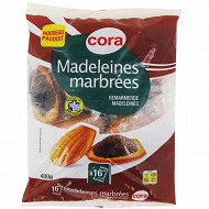 Cora madeleines marbrées 400g