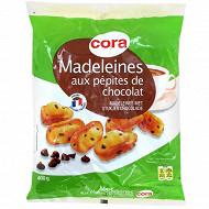 Cora madeleines aux pépites de chocolat 400g