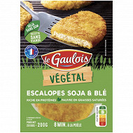 Le Gaulois végétal escalope panée soja blé 200g