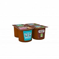 Les 2 Vaches crème dessert chocolat 4x95g