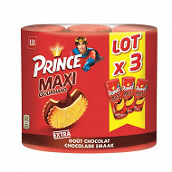 Prince maxi gourmand goût chocolat lot x3 750g