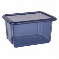 Boite Funny box bleu profond 30L avec couvercle