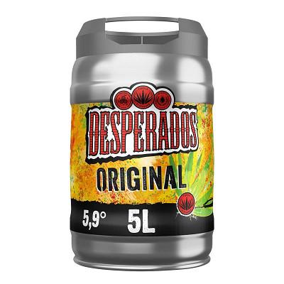 Desperados Desperados original bière aromatisée téquila fût 5L 5.9%vol