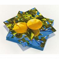 Serviettes x20 le citron 33x33cm 3plis