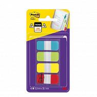 Notes post-it - set de 40 mini marques pages rigides couleurs standards