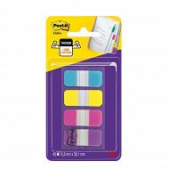 Notes post-it set de 40 mini marque-pages rigides couleurs vives