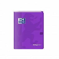 Easybook cahier agrafé 17x22 cm 96 pages 90 grammes seyes violet