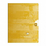 Clairefontaine cahier jaune clair piqure 170x220 96 pages seyes 90gr