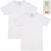 Lot de 2 tee shirt manches courtes col rond BLANC/BLANC T2