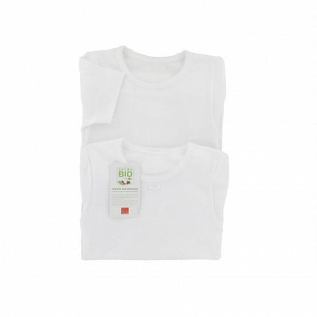 Tee shirt uni manches courtes lot de 2 Influx BLANC 10\12 ANS