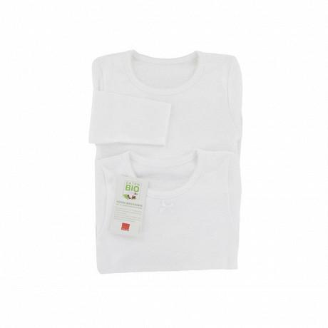Tee shirt uni manches longues lot de 2 Influx BLANC 10\12 ANS