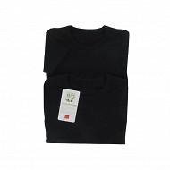Tee shirt manches courtes uni lot de 2 Influx 02/ NOIR/NOIR 10 ANS